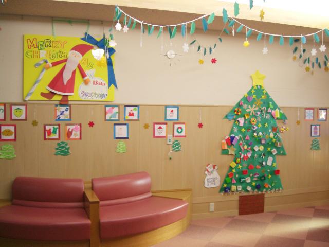 壁面飾り クリスマス 岐阜大学医学部附属病院小児病棟 ロビー