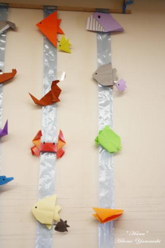 小児病棟の壁面飾り 水族館