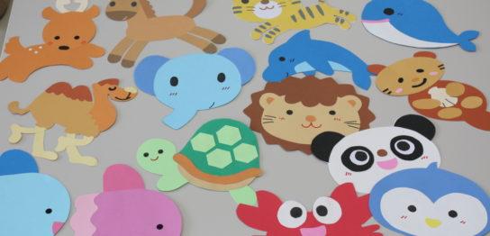 小児病棟・病室のマーク(動物・海の生き物)