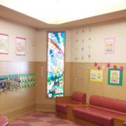 小児病棟2010春の壁面飾り「なぞなぞ花壇」  岐阜大学医学部附属病院 小児病棟 わたぼうしの会