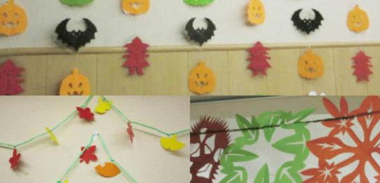 小児病棟2010秋の壁面飾り「ハロウィン」