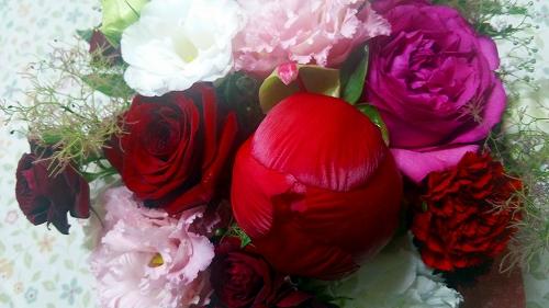 芍薬 シャクヤク 切り花 花束 アレンジ バラ 薔薇 開く