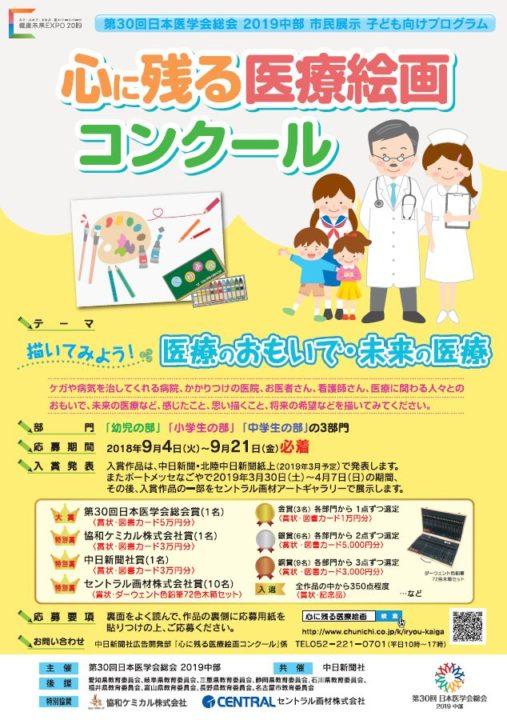 医療絵画コンクール「描いてみよう!医療のおもいで・未来の医療」