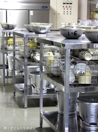 中学校の給食室