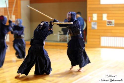 剣道の練習風景